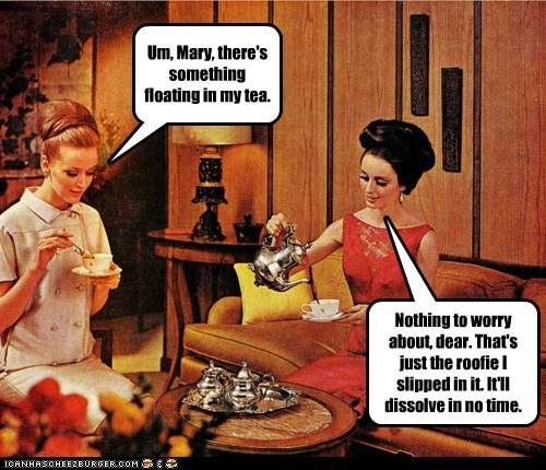 Um, Mary, there's something floating in my tea.