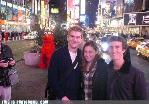 Elmo Keeping Tabs On His Woman