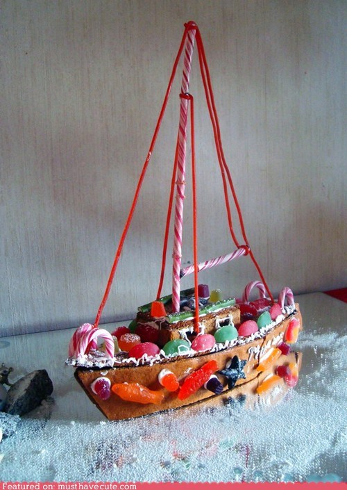boat,candy,christmas,epicute,gingerbread,sailboat