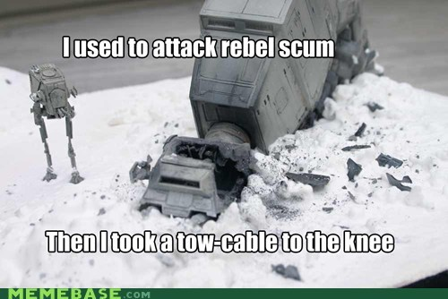 arrow to the knee,at at,Memes,rebels,robot,Skyrim,star wars,video games