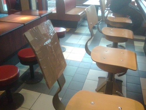 cardboard,McDonald's,Professional At Work,tape