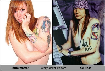 Hattie Watson Totally Looks Like Axl Rose