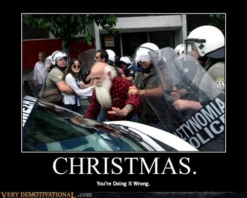 arrest,christmas,greece,hilarious,santa,wtf