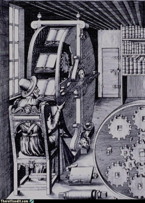 Historical Thursday: Agostino Ramelli's Bookwheel