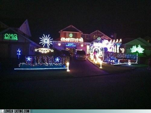 christmas lights,crazy,neighbors,obnoxious