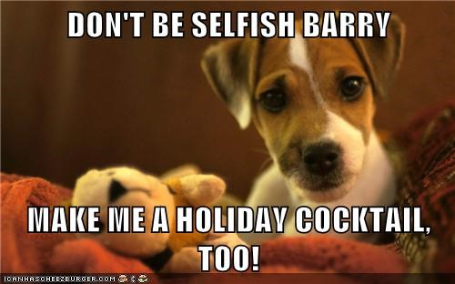 DON'T BE SELFISH BARRY