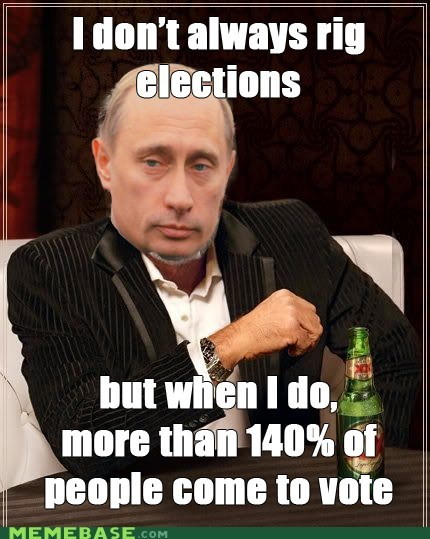 prime minister,protests,Putin,rigged,the most interesting man in the world,votes