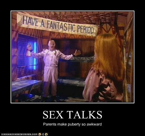 Awkward,parents,period,puberty,red dwarf,sex talk