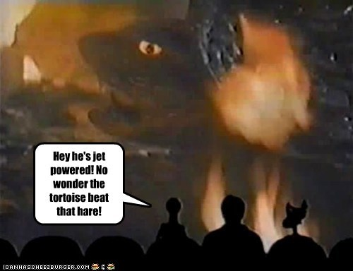 cheating,fables,jet,Mystery Science Theatre,the tortoise and the hare,tom servo