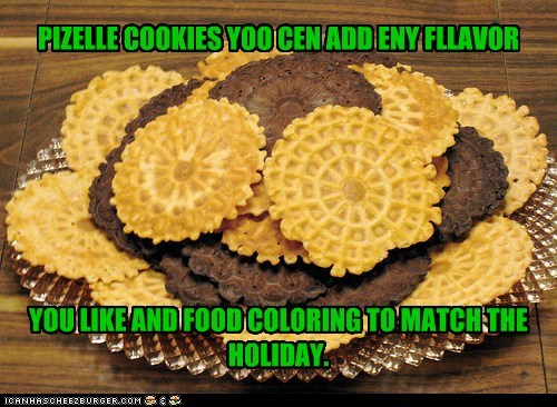 PIZELLE COOKIES YOO CEN ADD ENY FLLAVOR         YOU LIKE AND FOOD COLORING TO MATCH THE HOLIDAY.