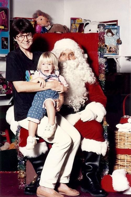 80s,baby,family,mother,retro,santa