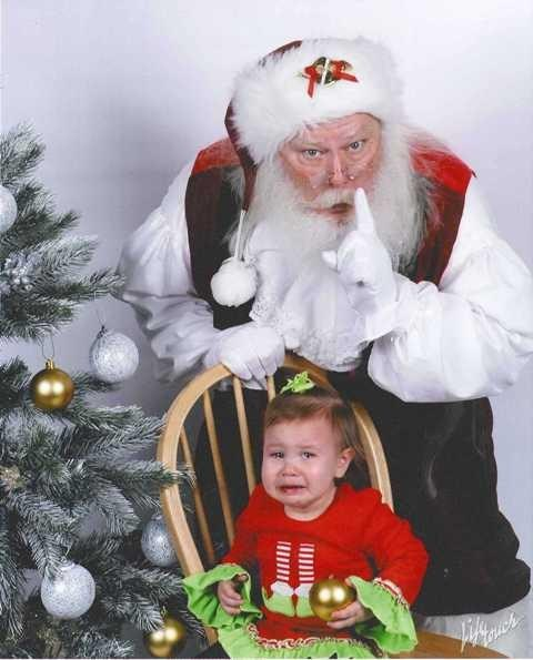 baby,creeper,crying,hush,santa,scared