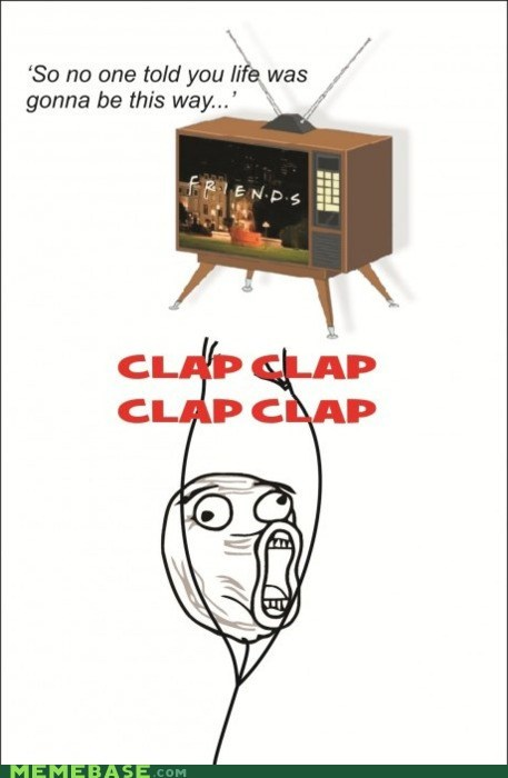claps,friends,Rage Comics,television,Theme Song