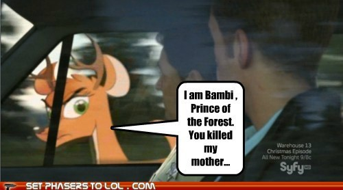 bambi,Colin Ferguson,deer,eureka,sheriff jack carter,syfy