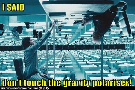 Gravity,Kirsten Dunst,Movie,polarity,upside down