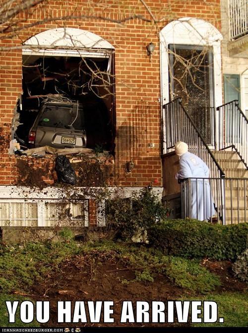 car,crash,gps,house,political pictures,wreck