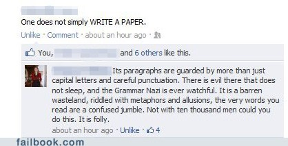 Failbook: The Lord of the Research Papers