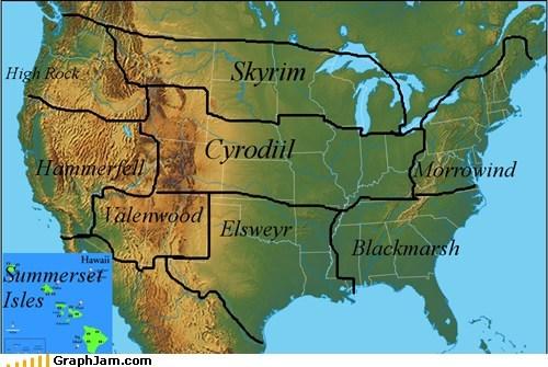 best of week,elder scrolls,map,Maps,morrowind,Skyrim,united states