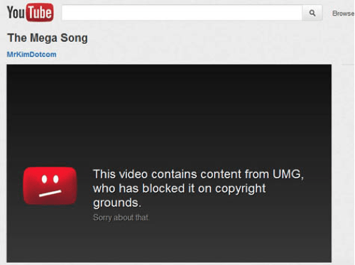 Megaupload vs. Universal Music Group of the Day