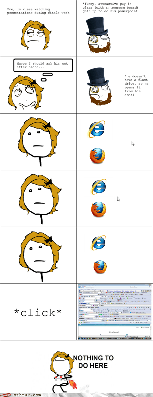 It's nothing personal, it's just that you must have the worst browser experience ever