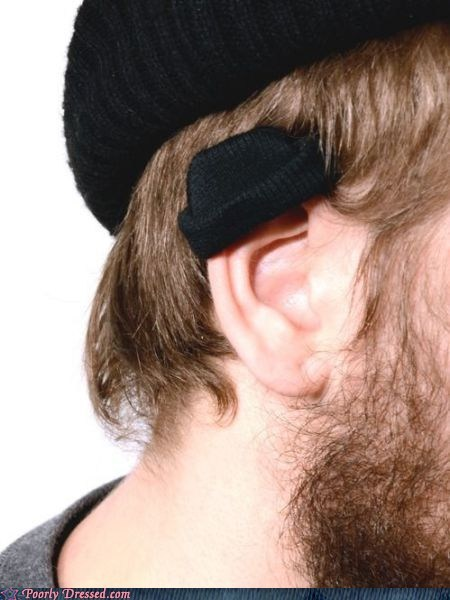 Poorly Dressed: Ear Beanies: Coming to a Hipster Near You