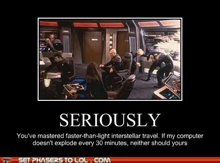 computer,explode,faster than light,Star Trek,technology,Travel
