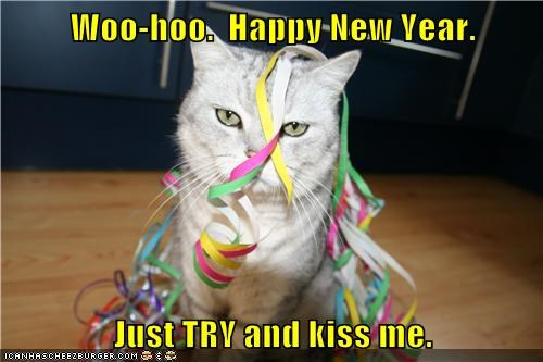 Woo-hoo.  Happy New Year.  Just TRY and kiss me.