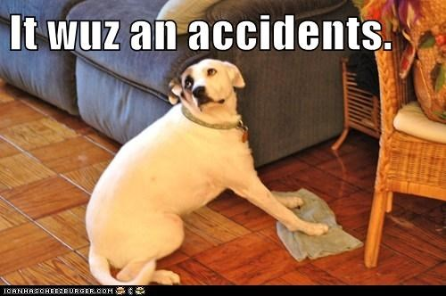 It wuz an accidents.