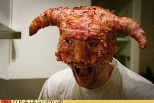 bacon,helmet,horns,Skyrim,video game