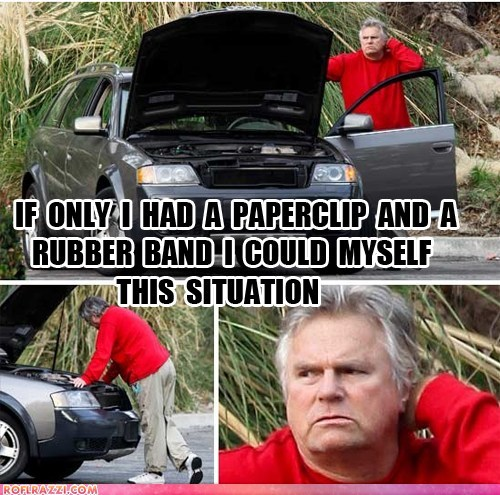 MacGyver Breaks Down In Malibu