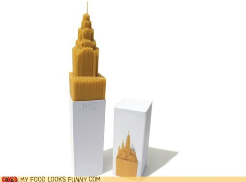 box,empire state building,nyc,package,spaghetti