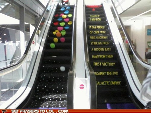 Star Wars Crawl Escalator