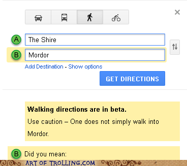 One Does Not Simply Map Into Mordor