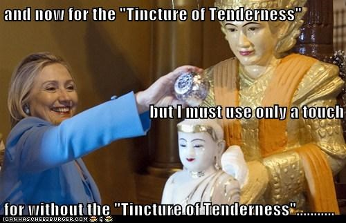 "and now for the ""Tincture of Tenderness"" but I must use only a touch for without the ""Tincture of Tenderness""..........."