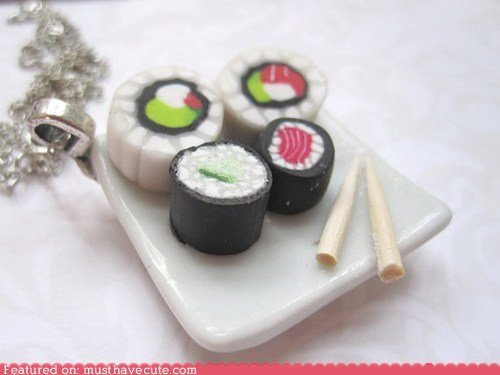 Sushi Roll Necklace