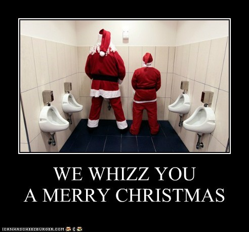 christmas,merry christmas,santa,santa costume,santa suit,urinal