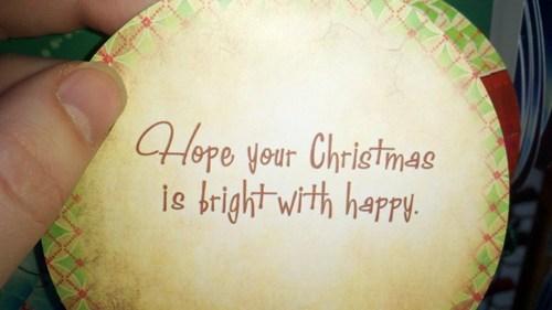 Engrish Funny: Merry Bright Happy Holidays!