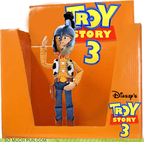 disney,iliad,literalism,pixar,similar sounding,toy story,toy story 3,trojans,troy,woody