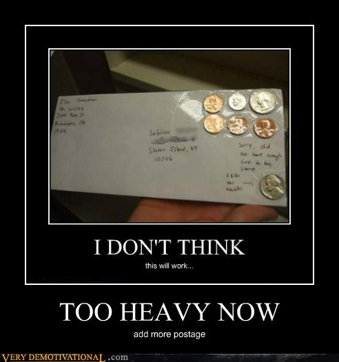 hilarious,letter,postage,too heavy