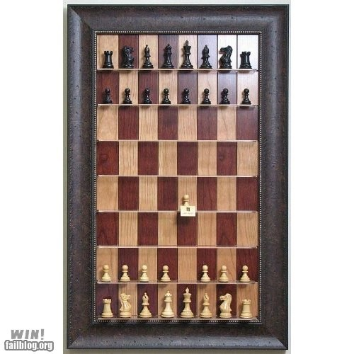 Vertical Chess Board WIN