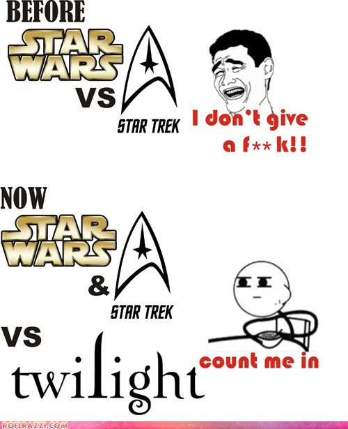 funny,meme,Star Trek,star wars,twilight