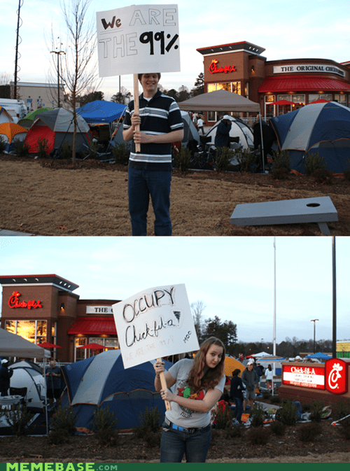 Occupy Chick-fil-a? I think you're doing it wrong...