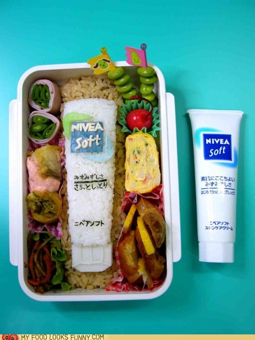 bento,lotion,lunch,meal,Nivea,rice