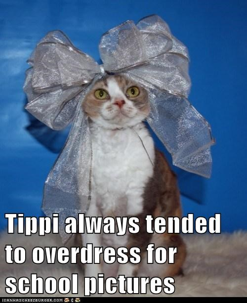 Tippi always tended to overdress for school pictures