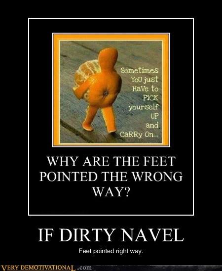 dirty,feet,hilarious,navel,orange