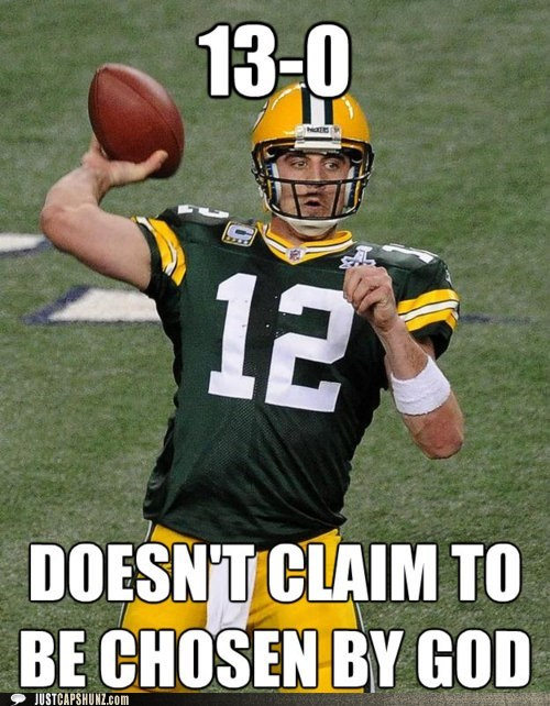 Good Guy Aaron Rodgers: All Skill, No Divine Intervention