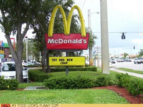 crap,McDonald's,new,sign