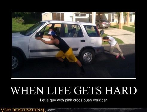 crocs,hard,hilarious,life,pink,wtf