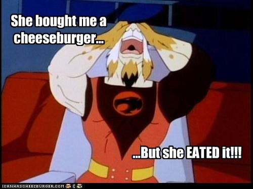 cheeseburger,eated it,lynx-o,Sad,thundercats