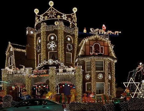 Enough Cheer to Power Eight Normally-Decorated Houses